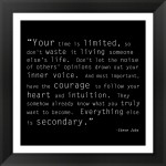 Time Quote by Unknown Framed Art Print, Size 16 X 16