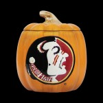 Ceramic Collegiate Pumpkin Treat Jar