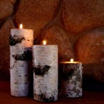 Real Birch Candle Holders