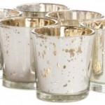 Koyal 6-Pack Antique Votive Cup, Silver